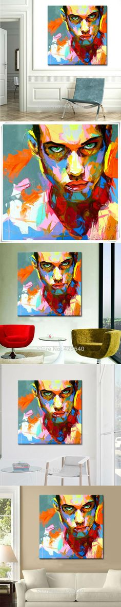 Palette knife painting portrait Palette knife Face Oil painting Impasto figure on canvas Hand painted Francoise Nielly Man Face #OilPaintingFace