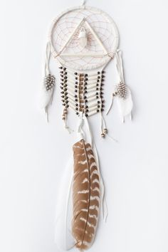 prism and feather dream catcher