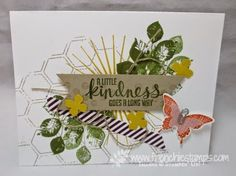 Stamp & Scrap with Frenchie: More with Kinda Eclectic stamp with embossing folder Honeycomb