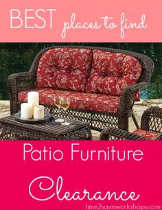 Ooo - I need to check these out before the good ones are gone! .....Patio Furniture Clearance | Target, Walmart, Kmart, Home Depot, Big Lots and More!