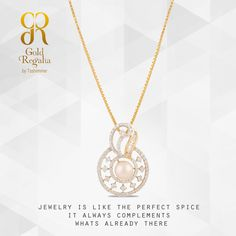 JEWELRY IS LIKE THE PERFECT SPICE IT ALWAYS COMPLEMENTS WHATS ALREADY THERE. Grete- Pendants by Gold Regalia https://goo.gl/PKQRhD #DiamondJewelry #DiamondPendants #WomensJewelry #IndianJewelry