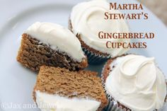Martha Stewart Christmas Centerpieces   Martha Stewart's Gingerbread Cupcakes