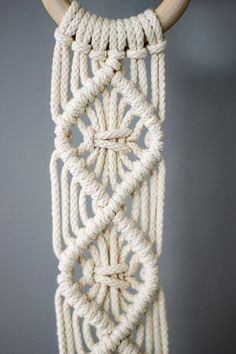 Macrame Plant Hangers / 38 Inch / 1/8 inch Braided door MangoAndMore