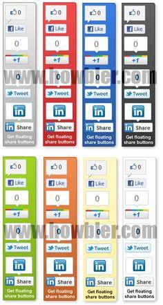 Blogger Widget: Add Floating Social Media Share Buttons