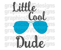 Little Cood Dude SVG File For Cricut and Cameo by SukiesDesigns