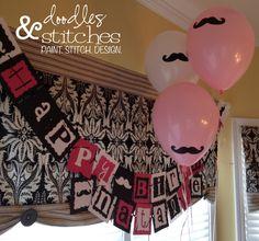 Doodles & Stitches: The Official Mustache Bash Moustache Party, Mustache Theme, Mustache Birthday, Lego Birthday, Girl Birthday, Paris Birthday, 10th Birthday Parties, Birthday Party Themes, Lego Parties