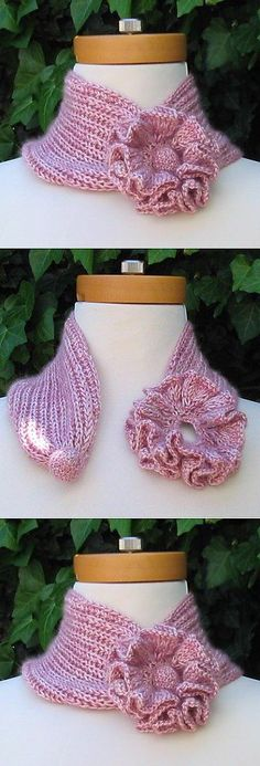 New Crochet Cowl Scarf Fun 38 Ideas Crochet Collar, Knit Or Crochet, Crochet Scarves, Crochet Shawl, Crochet Crafts, Crochet Clothes, Crochet Stitches, Crochet Baby, Crochet Projects