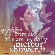 you are my meteor shower this is us