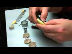 Making Buttons with embedded Shank - Part 1/2 ~ Polymer Clay Tutorials