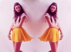 Look of the day: Yellow Skirt (by Mariana M. Chico) http://lookbook.nu/look/3454871-Look-of-the-day-Yellow-Skirt