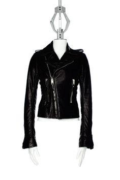 Balenciaga - Classic Biker Jacket in black lamb, €1695