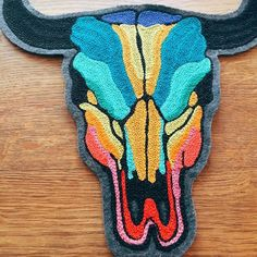 Die Trying TX offers a line of one of a kind chain stitch embroidered vintage denim jacket and patches. Handmade in Austin, Texas Chain Stitch Embroidery, Embroidery Stitches, Embroidery Patterns, Cross Stitch Patterns, Hand Embroidery, Funky Rugs, Stitch Patch, New T Shirt Design, Personalized Birthday Gifts