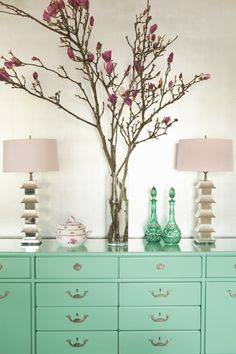 Foyers by Hillary Thomas I really want to paint some of my furniture #mint ..maybe with a rustic feel to it