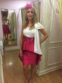 This is a gorgeous two piece with a cumberbund style belt with floral detail. The skirt is a straight skirt with a peplum short at the front and long Occasion Wear, Special Occasion Dresses, Straight Skirt, Race Day, Fashion Boutique, Party Dress, Peplum, Belt, Detail