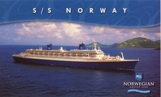 SS Norway- Her last sail as a cruise ship. Formerly a trans-Atlantic cruise ship, she was a grand old girl! This ship was SO classy. A time of the past. I loved it. Cruise Europe, Cruise Travel, Cruise Vacation, Crystal Cruises, Norwegian Cruise Line, Cool Boats, Best Cruise, Shore Excursions, France
