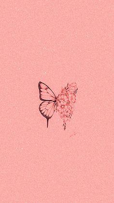 Iphone Wallpaper Landscape, Floral Wallpaper Iphone, Mood Wallpaper, Iphone Background Wallpaper, Aesthetic Iphone Wallpaper, Pink Wallpaper Girly, Blue Butterfly Wallpaper, Cute Couple Wallpaper, Kawaii Wallpaper