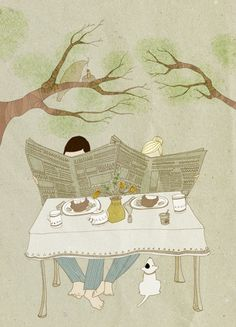 cute illustration...reminds me of Mark and me.