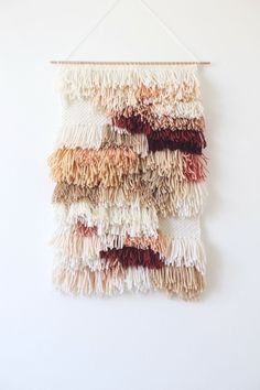 Weaving Wall Hanging, Weaving Art, Loom Weaving, Tapestry Weaving, Wall Tapestry, Hand Weaving, Wall Hangings, Do It Yourself Inspiration, Arts And Crafts