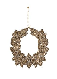 Ditch the delicate jewellery and go bold with this gorgeous statement collar, £670, jennypackham.com.