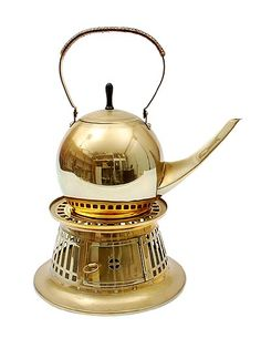 Brass teapot on stove design execution by Jan Eisenloeffel 1876-1957 / the Netherlands ca.1905