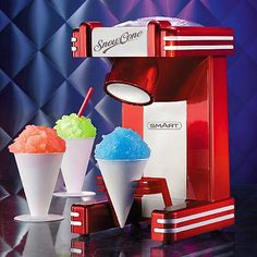 SMART 1950's American Diner Retro Style Ice Snow Cone Maker - Boxed Red Party in Home, Furniture & DIY, Appliances, Small Kitchen Appliances   eBay