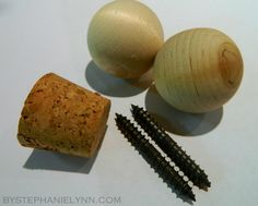 How to make pretty finials (the thing on the end of a curtain rod) to go with your homemade curtain rod.