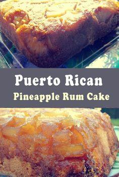 Puerto Rican Pineapple Rum Cake Ingredíents For the gláze ánd the píneápples cup pácked líght brown sugár 1 cups. Rum Recipes, Cuban Recipes, Baking Recipes, Cake Recipes, Dessert Recipes, Food Cakes, Cupcake Cakes, Cupcakes, Puerto Rican Recipes