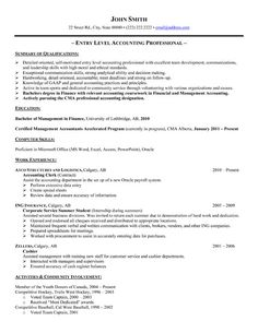 click here to download this accountant resume template httpwwwresumetemplates101 student resume templatesample resume templatesentry levelresume - Entry Level Job Resume Examples