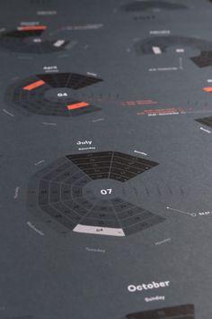 Bureau Oberhaeuser Calendar 2017 on Behance Form Design, Print Design, Graphic Design, Ui Design, Information Architecture, Information Design, Dashboard Design, Design Research, Calendar Design