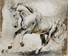 Horse art Horse Drawings, Animal Drawings, Art Drawings, Animal Sketches, Art Sketches, Horse Pictures, Art Pictures, White Horses, Equine Art