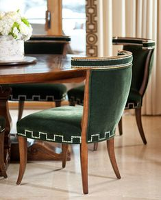chairs Beaver Creek - traditional - dining room - denver - by IBB Design Fine Furnishings #mohair #green #Colorado @ibbdesign