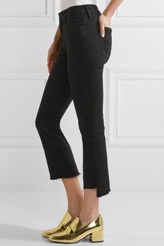 Mother - The Insider Crop High-rise Flared Jeans - Black - 31
