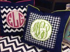 Great monograms by Associated Talents, order and finish from Sign of the Arrow