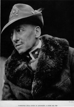 Gabriele D'Annunzio (1863 - 1938) Italian writer, poet, journalist, playwright and soldier during World War I.