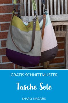 "Kostenloses Schnittmuster: Tasche ""Sole""   Snaply-Magazin"