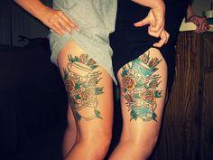 rose thigh tattoo - Google Search