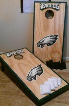 Philadelphia Eagles Cornhole boards | Gift Ideas | Pinterest ...