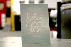 beautiful script lettering
