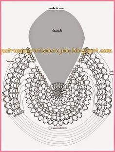 Crochet Scrubbies - How to crochet bolero shrug jacket free pattern tutorial easy Gilet Crochet, Crochet Tunic, Freeform Crochet, Crochet Motif, Crochet Doilies, Crochet Clothes, Crochet Lace, Crochet Stitches, Chevron Crochet Patterns