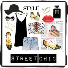 Designer Clothes, Shoes & Bags for Women Street Chic, Street Style, Sydney Evan, Gold Sandals, Whistles, Frame Denim, Lime Crime, Polyvore Fashion, Prada