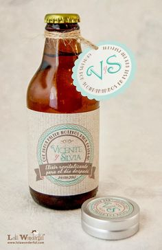 Lola Wonderful_Blog: Cervezas personalizadas: detalles de boda y packs de regalo