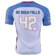 2016 USA Soccer Team SIOUX FALLS #42 American Outlaws Home Replica Shirt [E66]