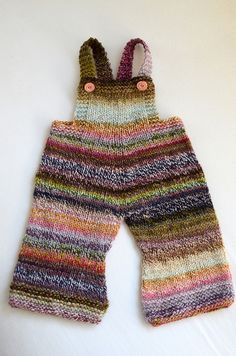 Handspun Baby Overalls | helloyarn how sweet ,comfy and warm these would be for a little one!