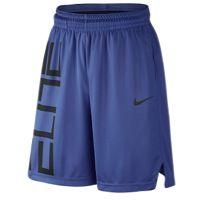 Nike Elite Wordmark Shorts - Men's - Blue / Black