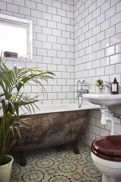 Back the Retro Look for Your Bathroom – Living Room Cozy Interior Exterior, Home Interior, Bathroom Interior, Bathroom Renos, Small Bathroom, Compact Bathroom, Bathroom Plants, Bidet, Bathroom Styling