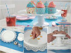 cupcake in bella mostra? crea questa semplice alzatina in poche mosse grazie al biadesivo tesa powerbond!