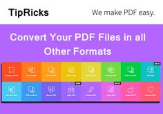 Convert PDF File Into Microsoft Word, Excel Spreadsheets,  PowerPoint Presentation And Other Formats Using SmallPDF