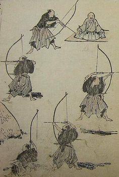 『北斎漫画』第六編(文化14年)葛飾北斎著から。 From Hokusai Manga volume 6 (1817).