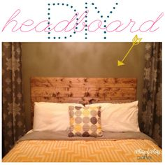 DIY headboard. The only thing I would change is making it attach to the bed frame, not the wall.
