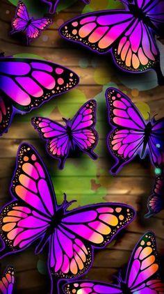Mermaid Wallpaper Backgrounds, Purple Butterfly Wallpaper, Mermaid Wallpapers, Butterfly Background, Free Phone Wallpaper, Flower Phone Wallpaper, Butterfly Art, Pretty Wallpapers, Colorful Wallpaper